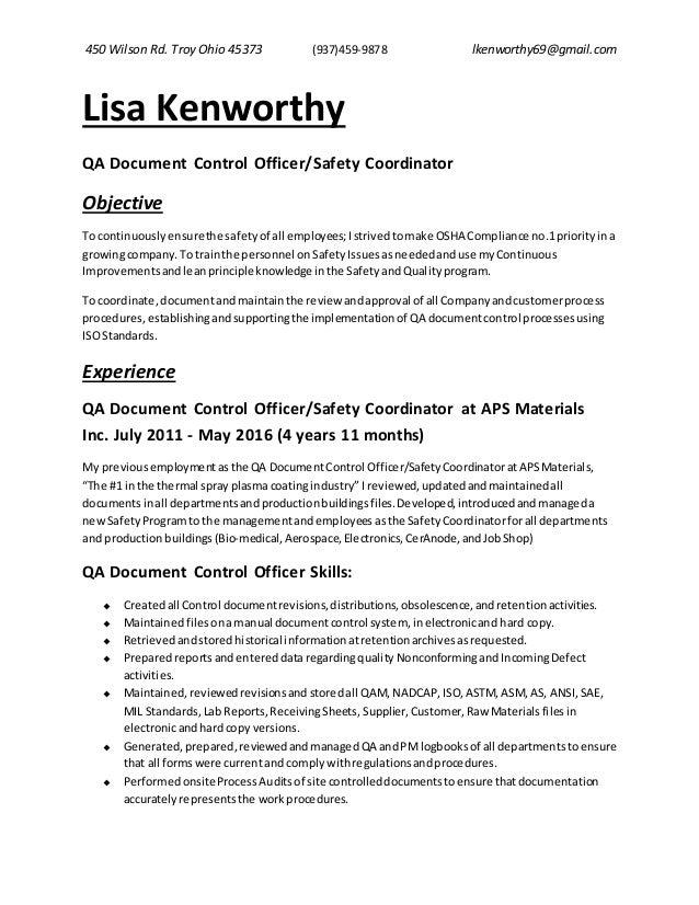 resume of lisa kenworthy