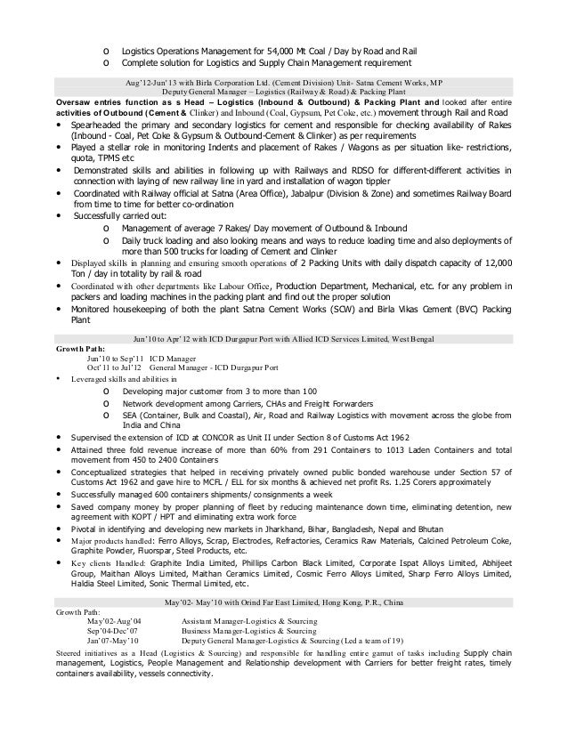 3 o - Procurement Resume
