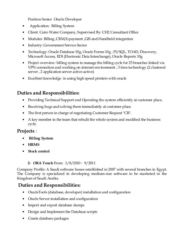 business objects architect resume