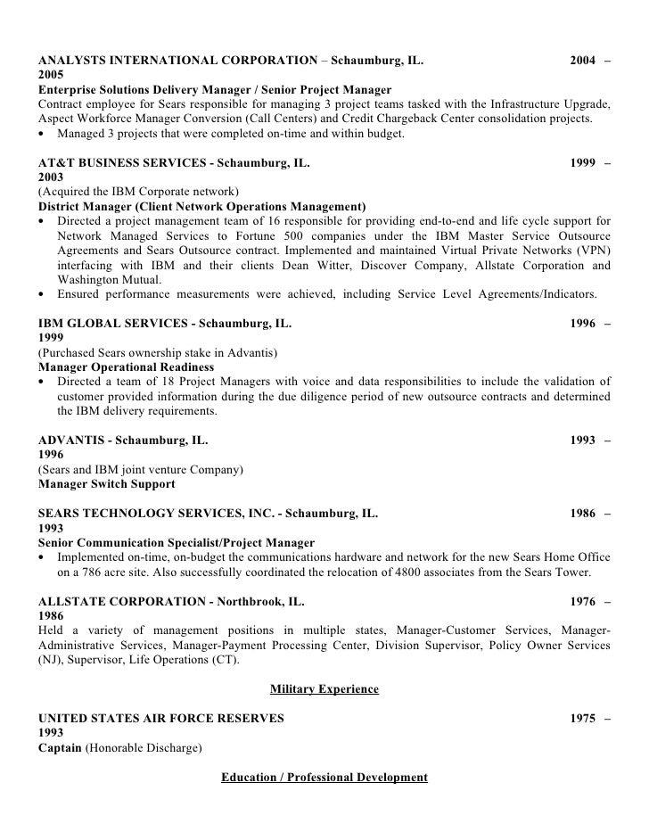 Resume of r. f. cashman upload