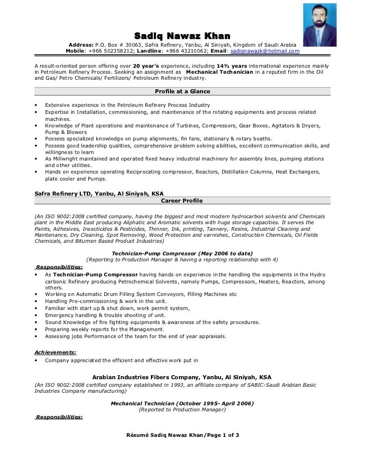 Sample Fire Protection Engineer Resume Resumebaking Resume Format ...