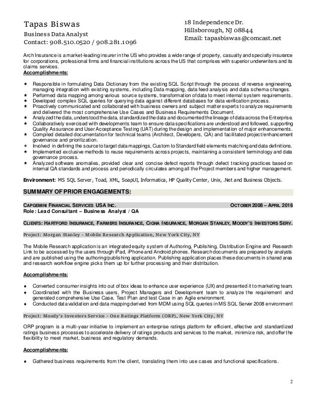 resume of tapas biswas