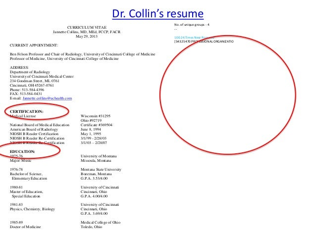 10 dr collins resume - Parse Resume Definition