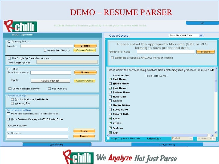 rchilli an application recruiting software