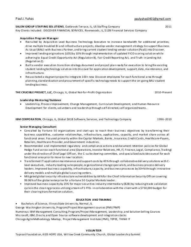 resume paul yuhas 20170308 product owner