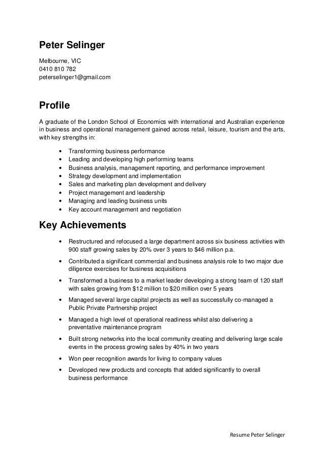 Resume peter selinger 2015 (1)