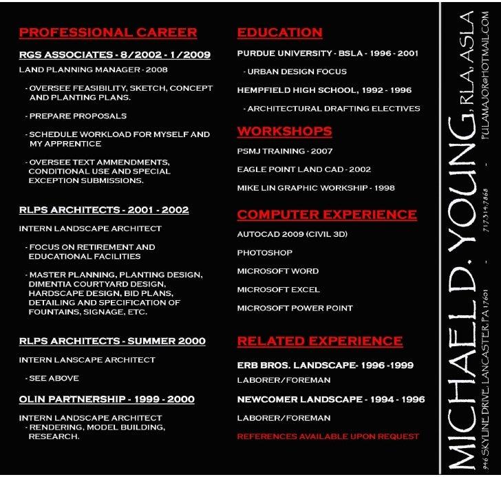 resume portfolio linkedin 01 2009