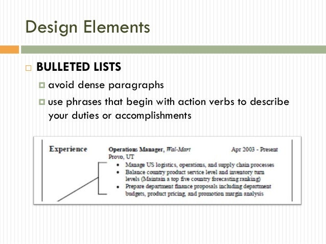 description 11 design elements elements of a resume - Elements Of A Resume