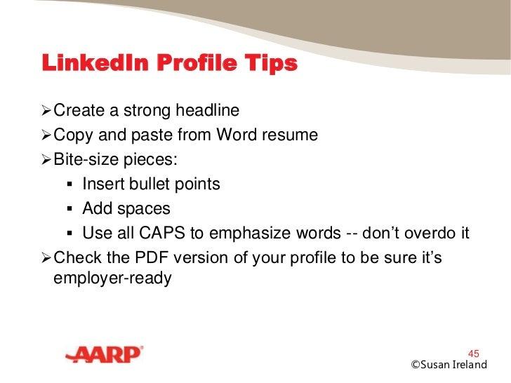 LinkedIn Profile Tips Create a