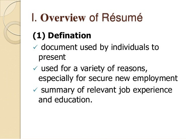 how to write a successful resume or cv in english
