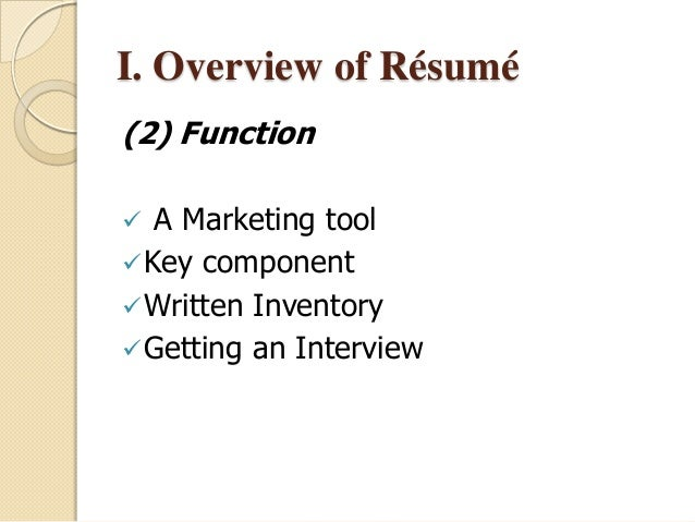 Successful Resume best resume format 2015 google search 5 I Overview Of Rsum