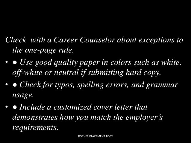 resume ppt good roever roby