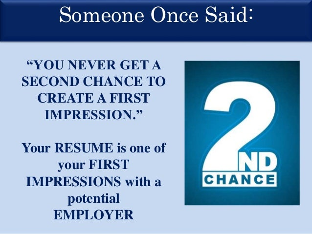 resume first impression - Selo.l-ink.co