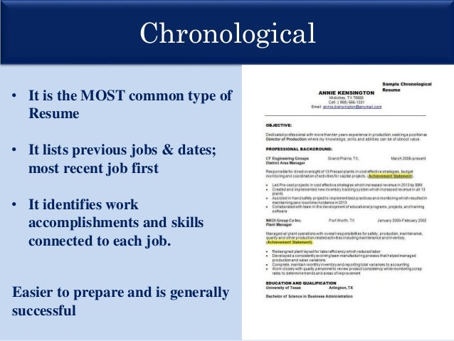 Wonderful ... Resumes Chronological Functional; 8. Throughout Resume Presentation