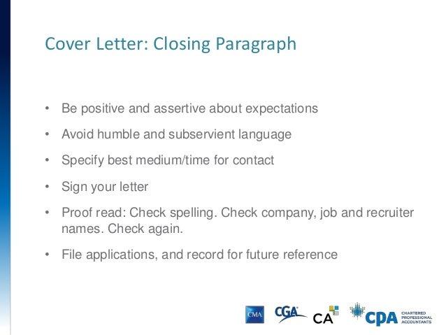 Resume & Cover Letter Presentation