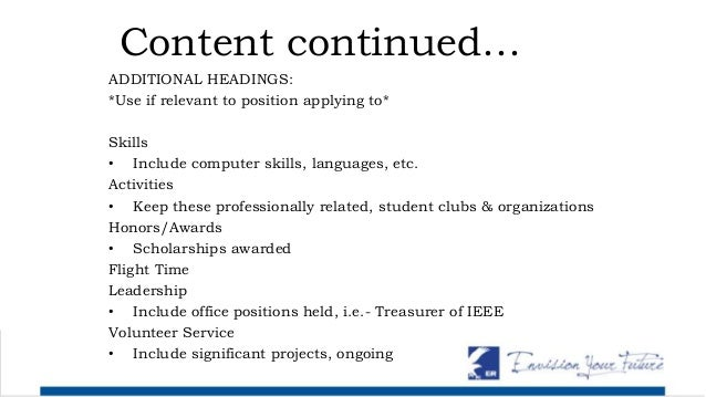 skills to include in resume