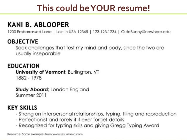 This Could BeYOUR Resume!  Effective Resumes