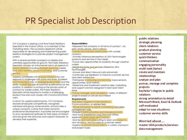 Pr resources resume cover letter samples