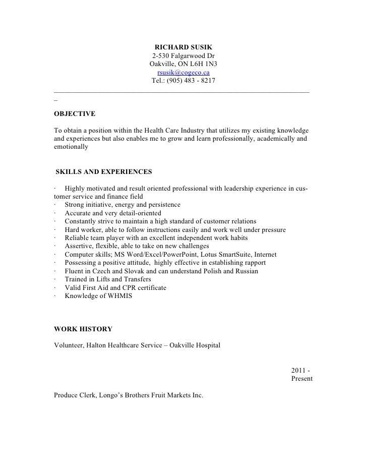 psw resume new graduate