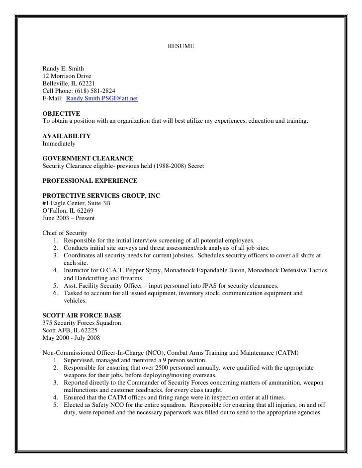 security forces. Resume Example. Resume CV Cover Letter