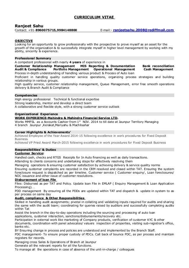 resume ranjeetsahu update 1