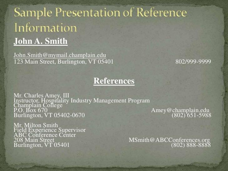 resume references basic guidelines