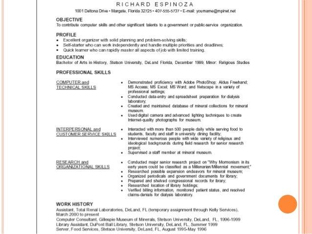 resume rev