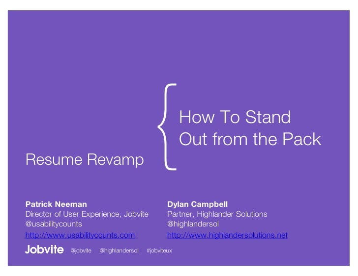 UX Resume Revamp