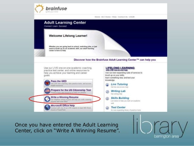 Adult Learning Center: Resume And Cover Letter Review Service