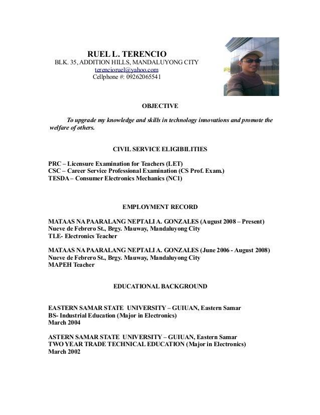 Resume ruel