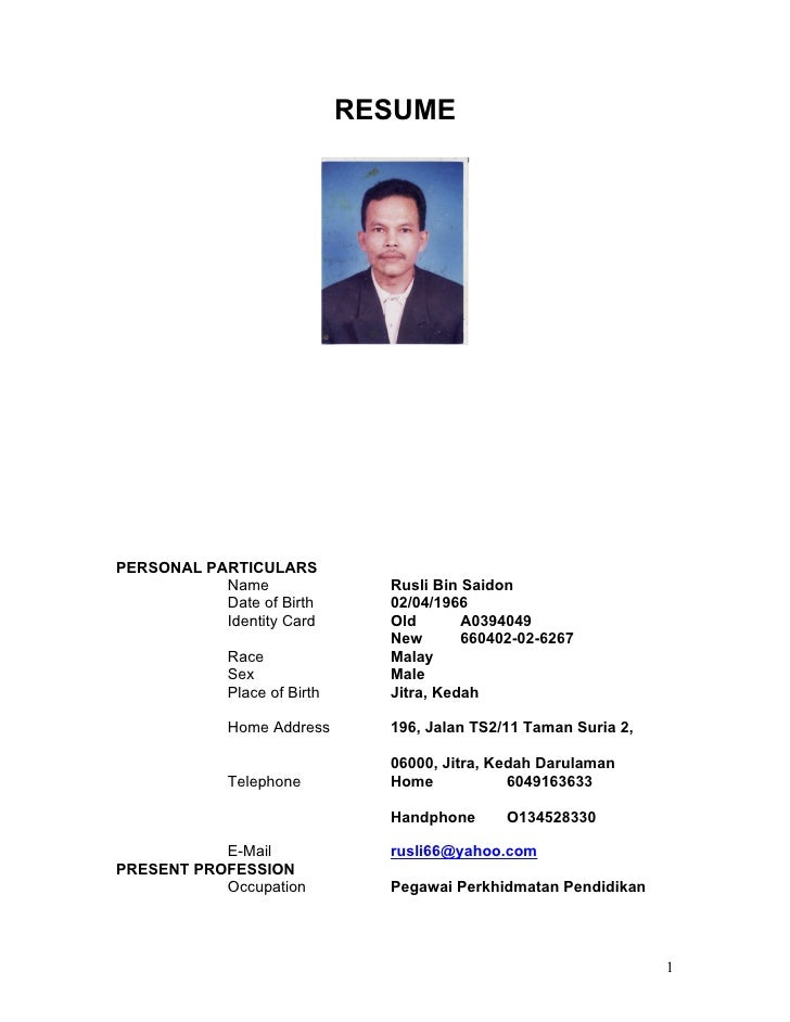 contoh cover letter untuk resume bahasa melayu cover letter for resume dalam bahasa melayu