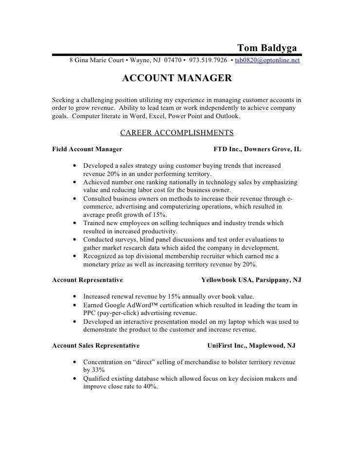 Resume Rv Acct Mgr Jul09