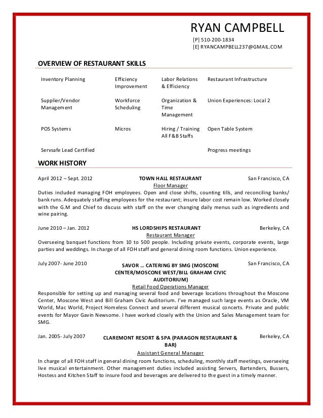 Pin restaurant busboy resume sample on pinterest for Cover letter for busser