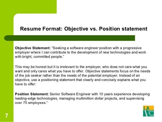 Positioning Statement Resume Resume Ideas