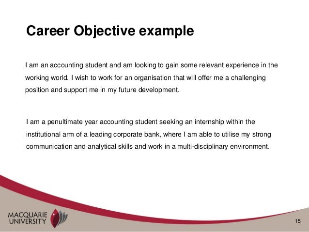 career objective accounting examples - Template