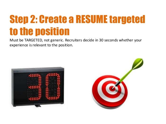 3 step 2 create a resume - Creating A Resume Cover Letter