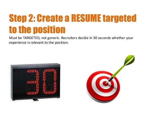 3. Step 2: Create A RESUME ...