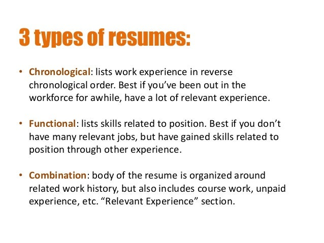 Amazing 3 Types Of Resumes: ... Ideas Three Types Of Resumes