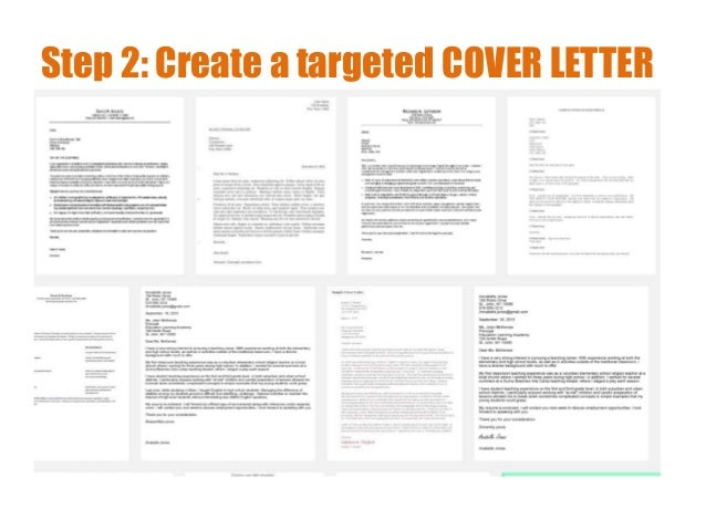 Step 2: Create A Targeted COVER LETTER ...  Creating Cover Letter