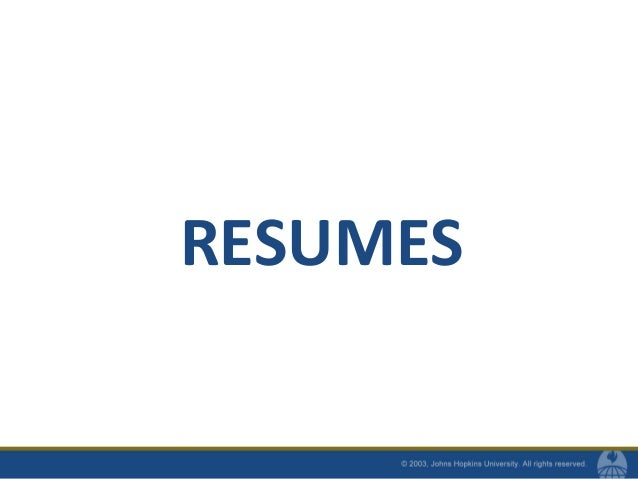 resumes and cvs for mhs students fall 2010