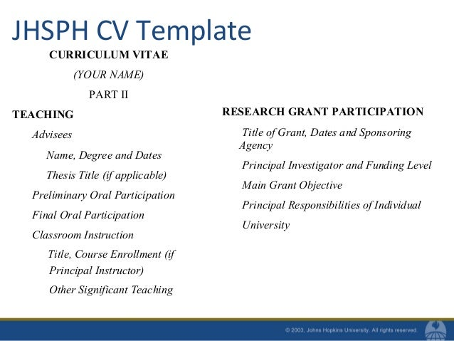 Superior ... Reviewed Chapters Other; 22. JHSPH CV Template ...