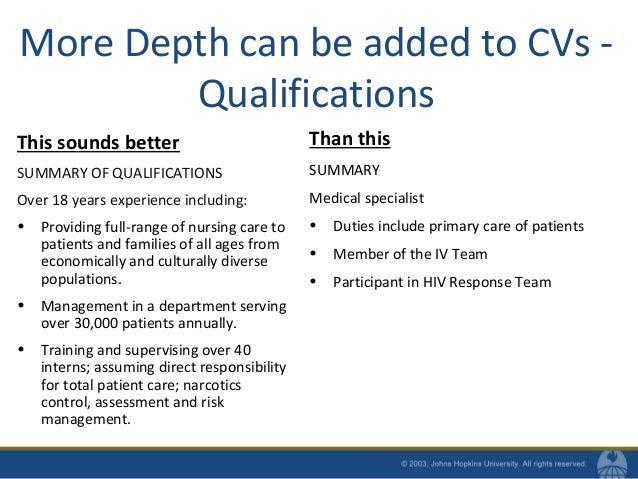 SlideShare  Summary Of Qualifications On Resume