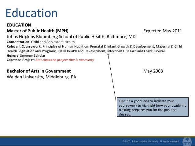 9. Education EDUCATION Master Of Public Health ...  Public Health Resumes