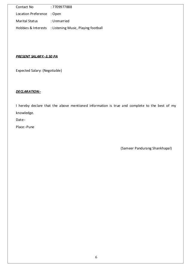 resume sameer 1