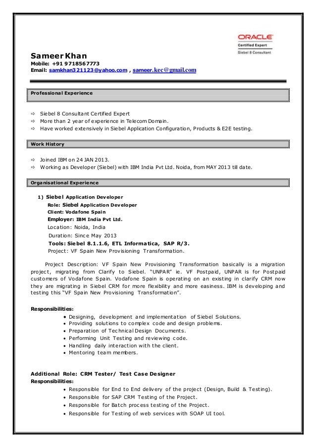Obiee Resume Format Dravit Si Resume Sales Marketing Objective Free Sample  Resume Cover  Application Developer Resume