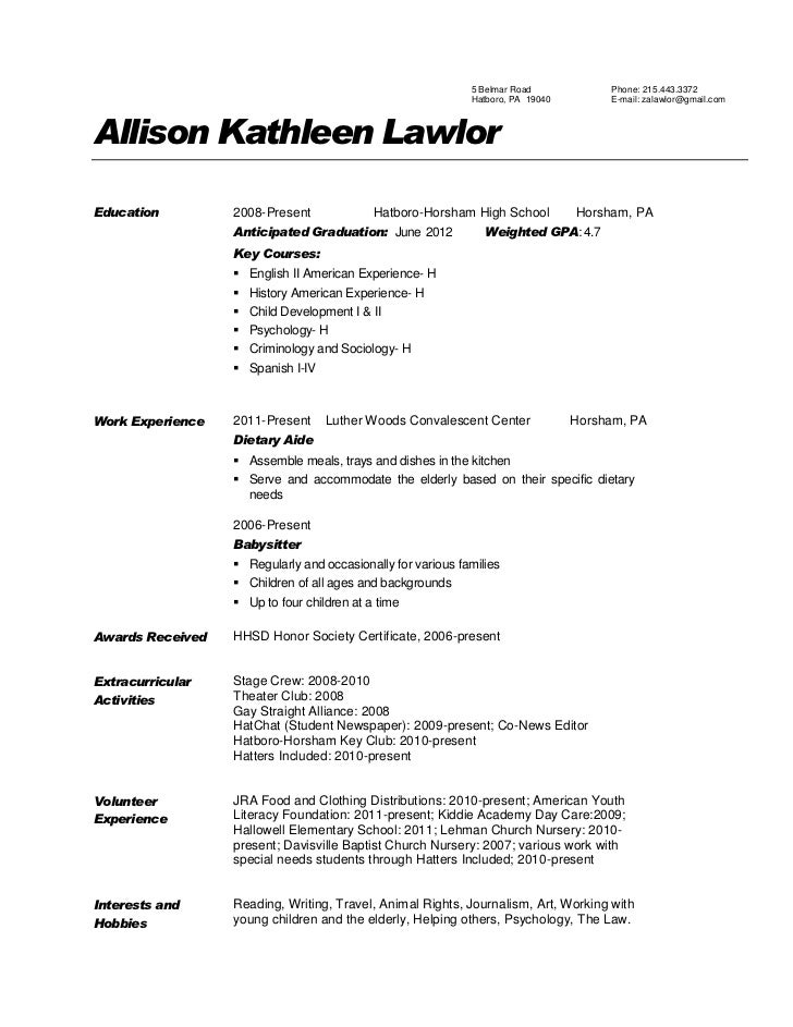 Teacher Aide Description Resume