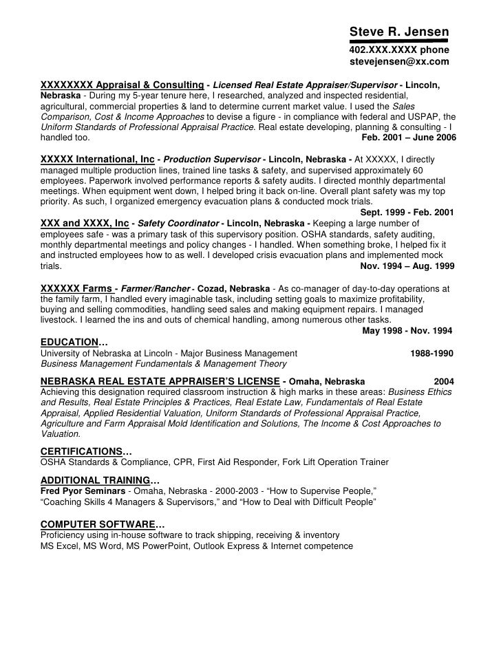 Resume Sample 3