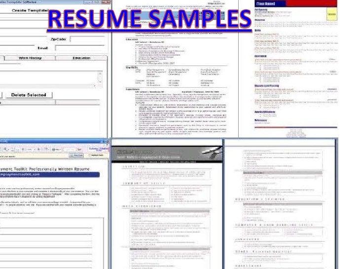 Resume samples<br />RESUME SAMPLES<br />