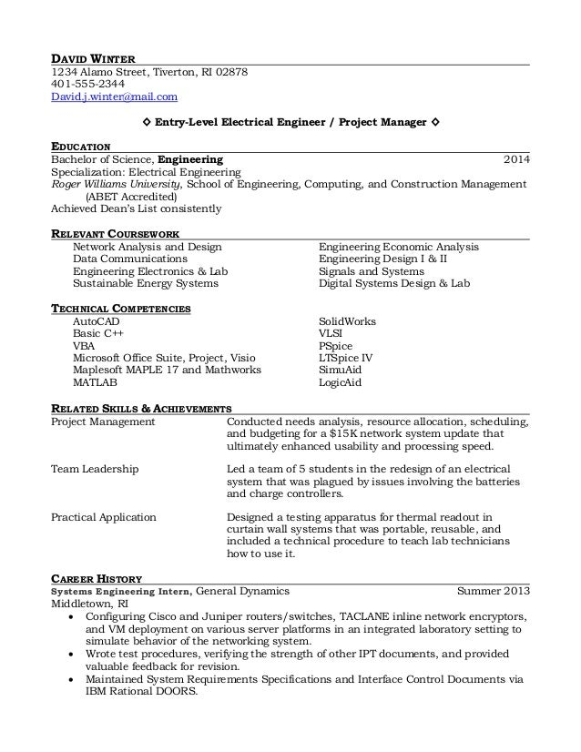 Resume For Recent College     Professional Resume Templates