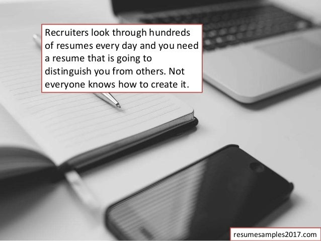 how your resume should look
